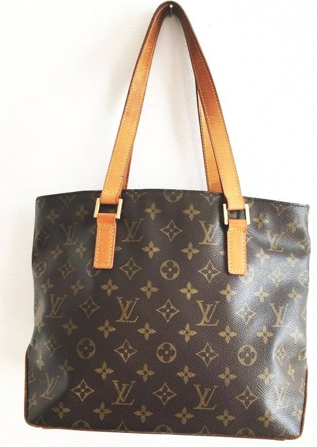 Vintage kabelka LOUIS VUITTON Cabas Piano Monogram Canvas Shoulder bag brown