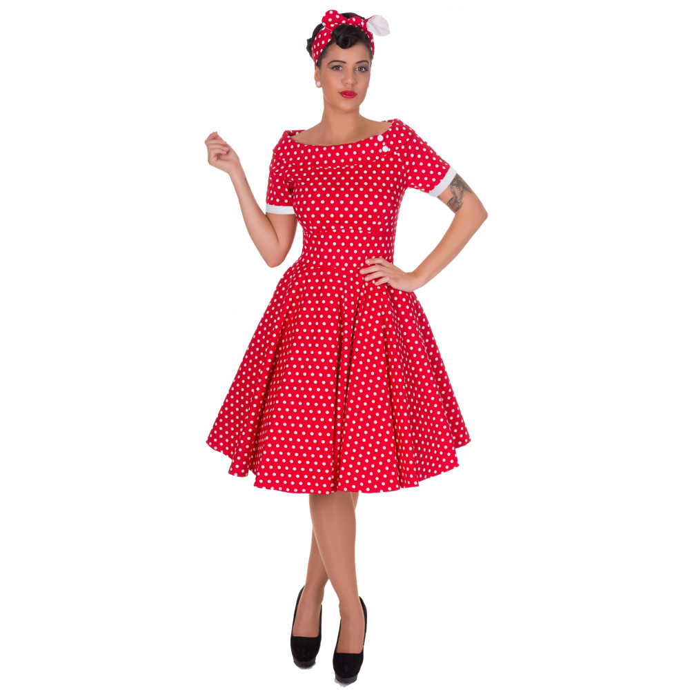 Rockabilly šaty 50. léta